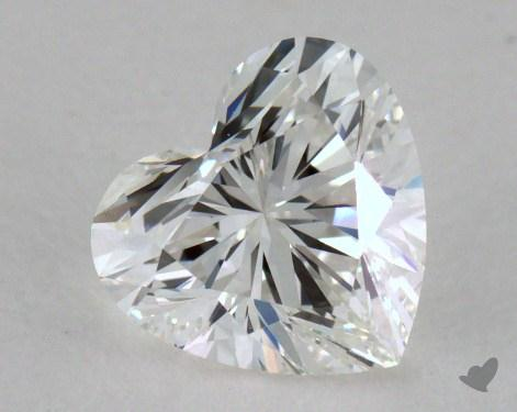 0.88 Carat G-VS1 Heart Cut Diamond 