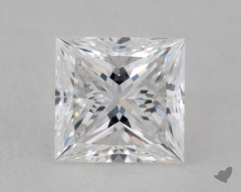 0.71 Carat E-VVS1 Ideal Cut Princess Diamond
