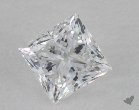 0.51 Carat D-VVS2 Ideal Cut Princess Diamond
