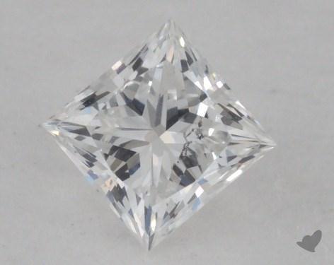 0.42 Carat F-SI1 Ideal Cut Princess Diamond