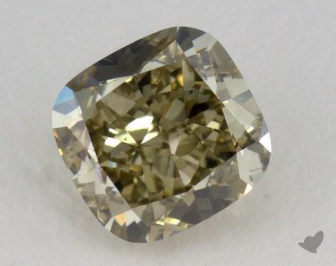 1.08 Carat fancy greenish greenish yellow-VS2 Cushion Cut Diamond