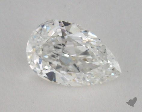 0.80 Carat F-SI1 Pear Shape Diamond