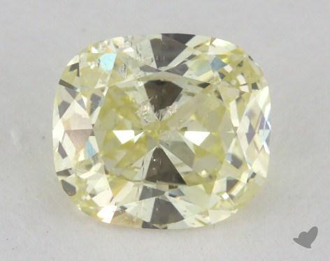 1.02 Carat fancy light yellow Cushion Cut Diamond
