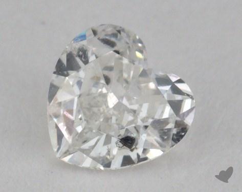 0.37 Carat F-I1 Heart Shape Diamond