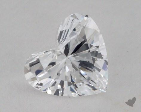 1.23 Carat D-SI1 Heart Cut Diamond
