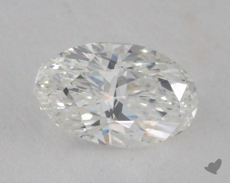 0.70 Carat F-VVS2 Oval Cut Diamond