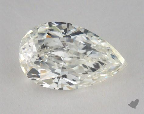 3.01 Carat H-SI1 Pear Shaped  Diamond