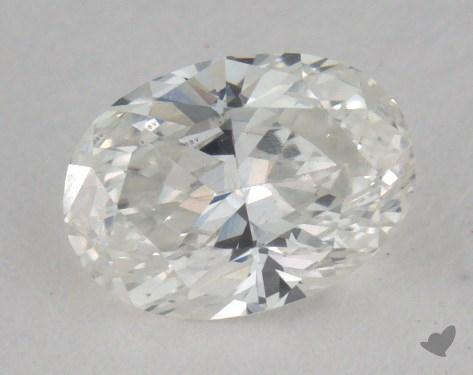 0.53 Carat G-VVS2 Oval Cut Diamond