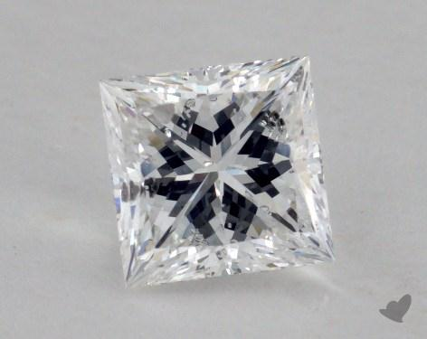 1.38 Carat E-SI1 Ideal Cut Princess Diamond