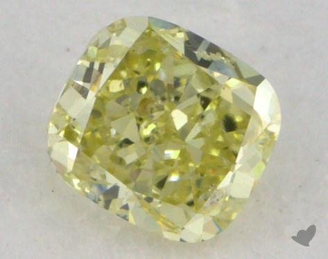 0.52 Carat fancy yellow Cushion Cut Diamond