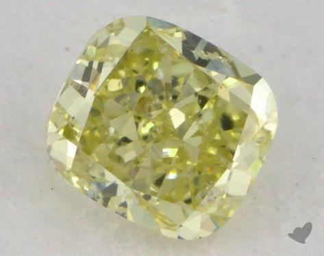 0.52 Carat fancy yellow Cushion Cut Diamond