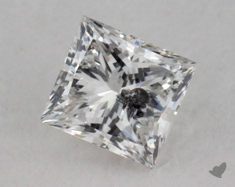 0.77 Carat E-I1 Very Good Cut Princess Diamond