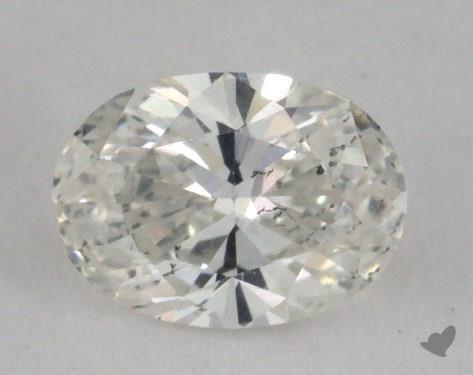 0.56 Carat H-SI2 Oval Cut Diamond