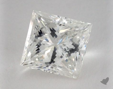 5.09 Carat G-SI2 Princess Cut  Diamond