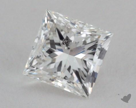 0.91 Carat F-SI2 Ideal Cut Princess Diamond