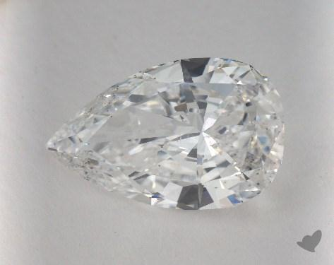 5.05 Carat E-SI2 Pear Shape Diamond
