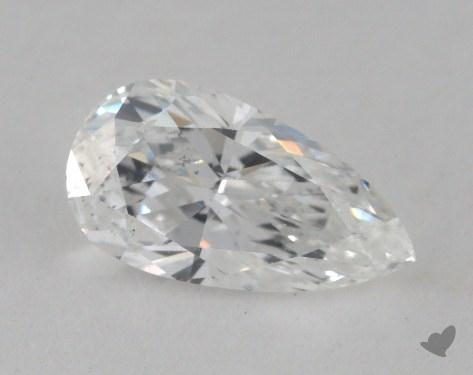 1.00 Carat E-SI1 Pear Cut Diamond 
