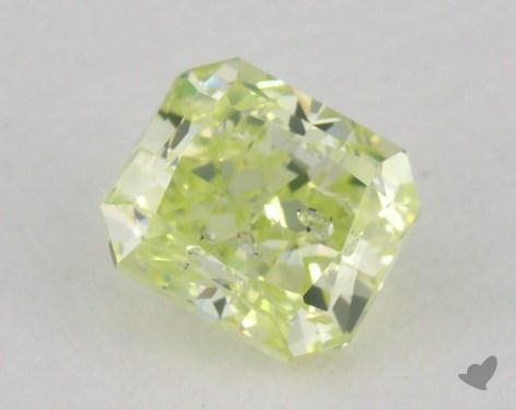 0.51 Carat fancy greenish yellow Radiant Cut Diamond