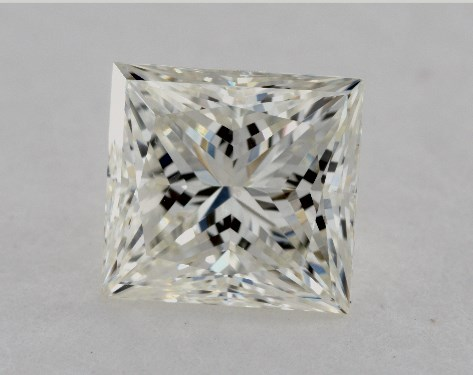1.71 Carat J-VS2 Ideal Cut Princess Diamond
