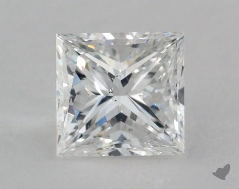 2.00 Carat E-SI1 Princess Cut  Diamond