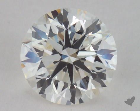 0.90 Carat I-VVS1 Very Good Cut Round Diamond