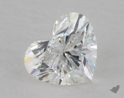 1.01 Carat F-SI1 Heart Cut Diamond