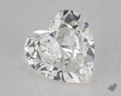 1.00 Carat G-VVS2 Heart Cut Diamond