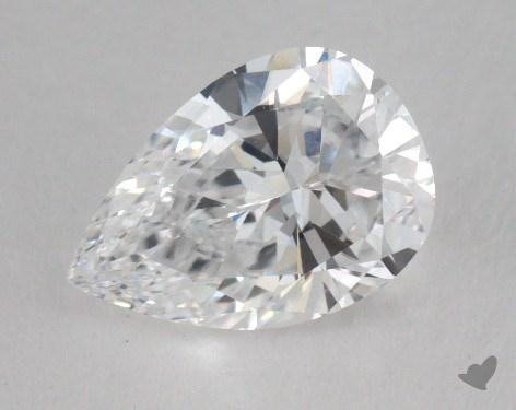 1.41 Carat D-VS1 Pear Cut Diamond