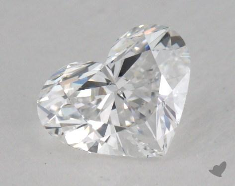 0.92 Carat D-VS2 Heart Cut Diamond