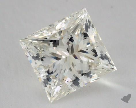 6.03 Carat I-SI1 Very Good Cut Princess Diamond