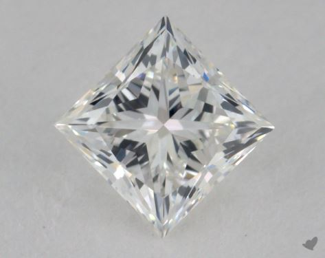 0.75 Carat G-VS2 Very Good Cut Princess Diamond
