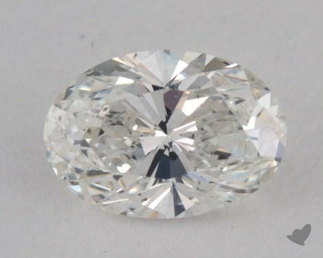 0.72 Carat H-SI1 Oval Cut  Diamond