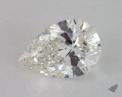1.53 Carat H-SI1 Pear Shape Diamond