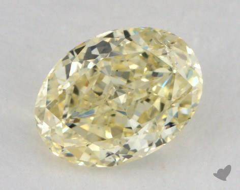 1.05 Carat fancy light yellow-SI2 Oval Cut Diamond