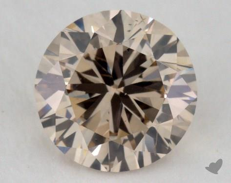 1.27 Carat light brown-SI1 Round Cut  Diamond