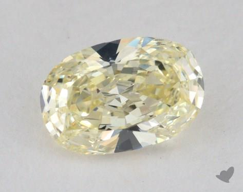 1.31 Carat light yellow-VS2 Oval Cut Diamond