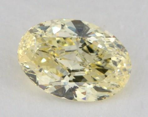 1.19 Carat fancy yellow-I1 Oval Cut  Diamond