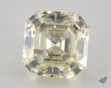 2.01 Carat light yellow-I1 Square Emerald Cut Diamond