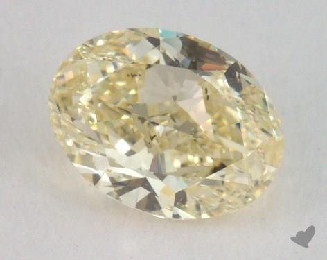 1.00 Carat fancy light yellow-SI1 Oval Cut Diamond