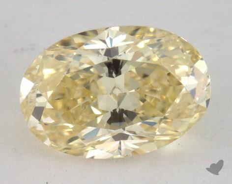 1.02 Carat fancy yellow-I1 Oval Cut Diamond