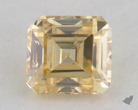 0.81 Carat fancy intense yellow-SI2 Square Emerald Cut Diamond