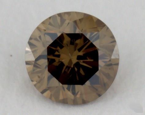 0.15 Carat fancy dark brownish greenish yellow-VS2 Round Cut  Diamond