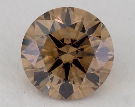 1.05 Carat fancy yellowish brown-VS1 Round Cut Diamond