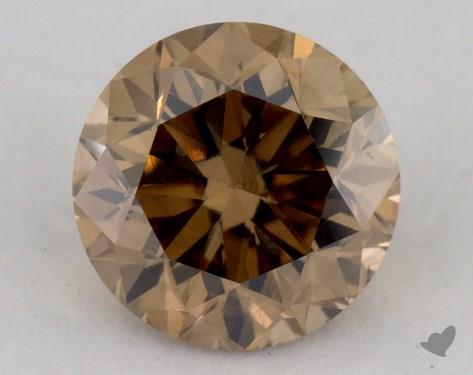 1.01 Carat fancy yellowish brown-VS2 Round Cut Diamond