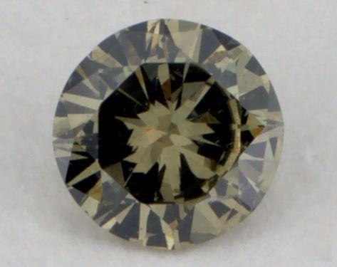 0.17 Carat fancy yellowish green-I1 Round Cut  Diamond