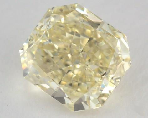 2.43 Carat fancy yellow-SI1 Radiant Cut Diamond