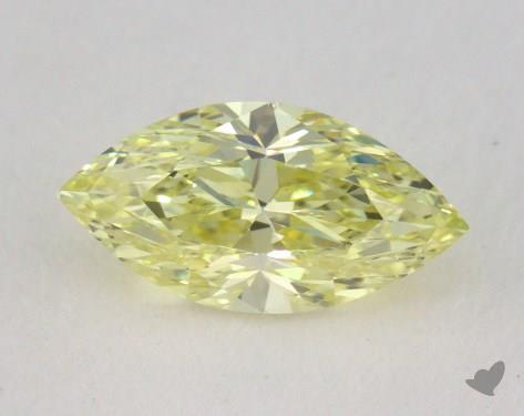 0.57 Carat fancy yellow-VS1 Marquise Cut Diamond