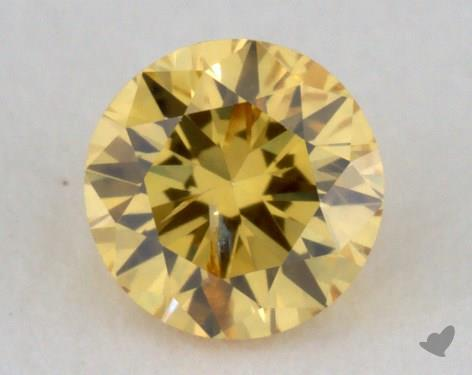 0.21 Carat fancy vivid yellow-I1 Round Cut Diamond