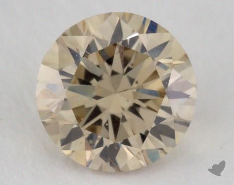 1.24 Carat light brown-SI1 Round Cut Diamond