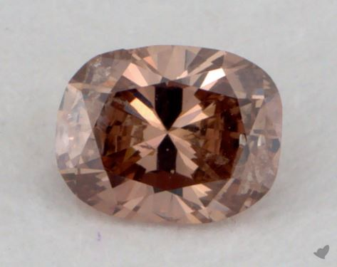 0.26 Carat fancy orange-I2 Cushion Cut Diamond